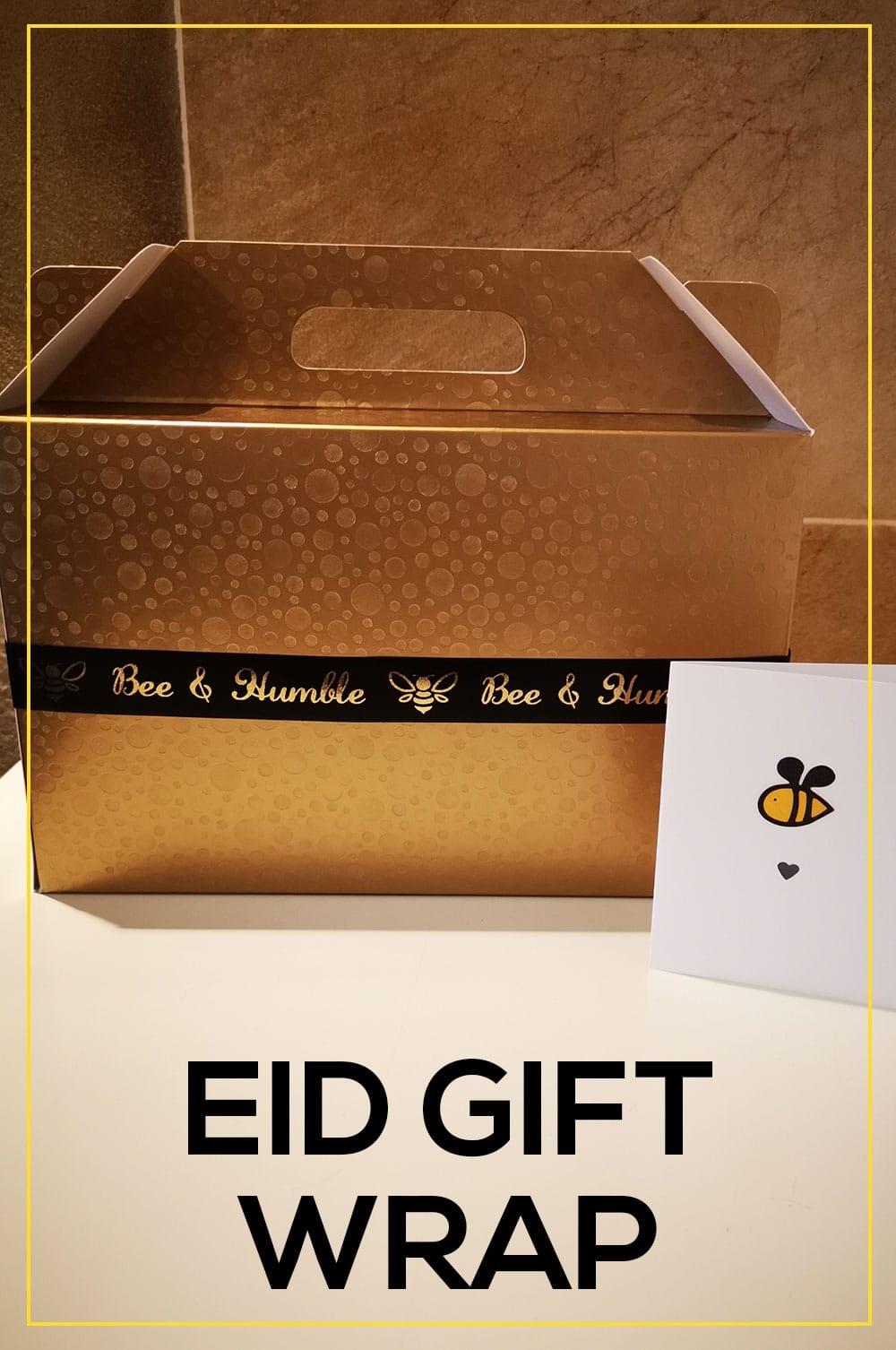 eid gift box and eid card  bee and humble
